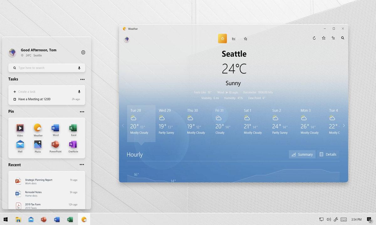 aspecto de Windows 10