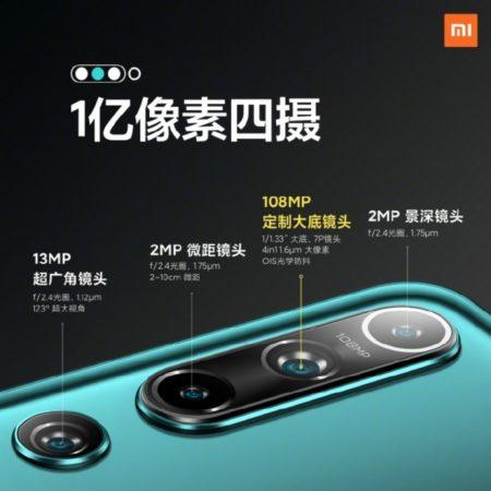 Configuración de cámara trasera del Xiaomi Mi 10