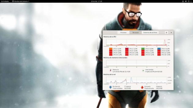 Consumo de RAM de Linux antes de empezar a ejecutar Google Chrome