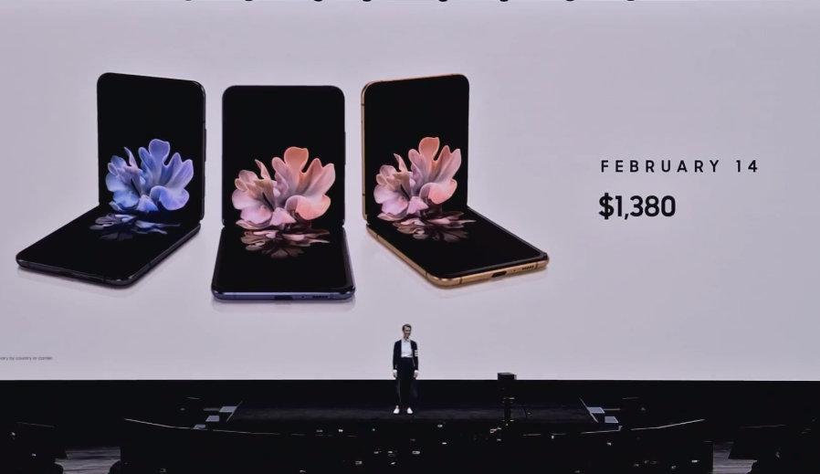 Samsung presenta su nuevo smartphone plegable, Galaxy Z Flip 39