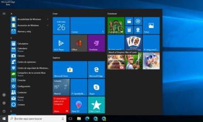 baldosas del menú de inicio de Windows 10