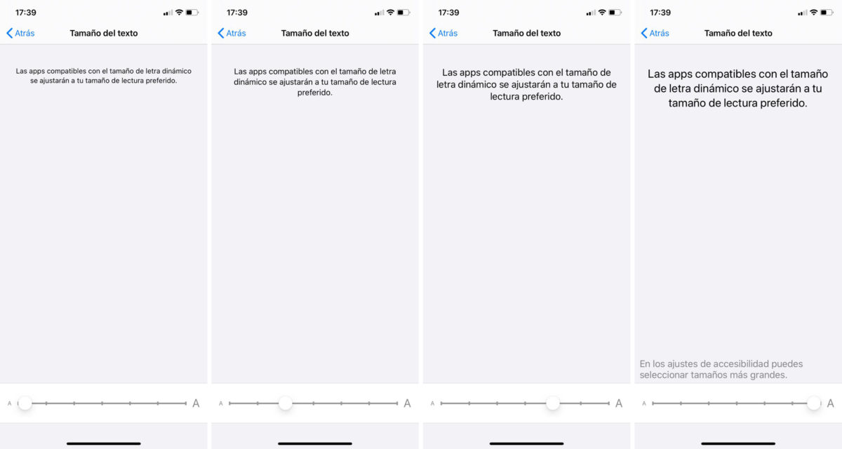 Cambiar tamaño letra WhatsApp iPhone iOS