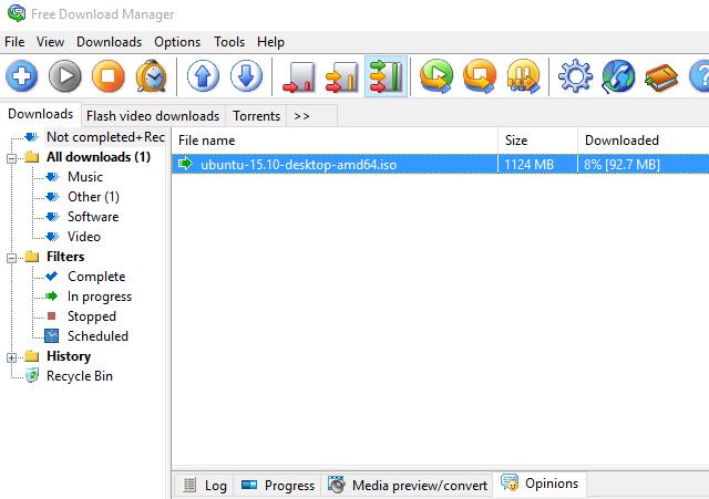 Gestores de descargas o cómo gestionar las transferencias de contenido en Internet 43