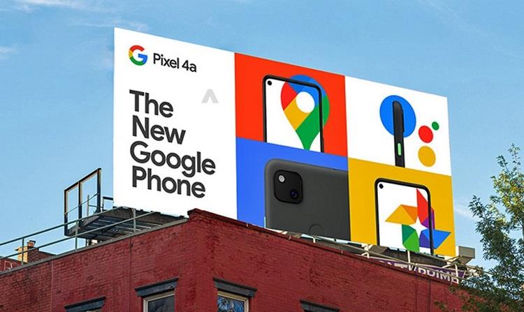 El Google Pixel 4a aparece en una valla publicitaria: confirmado su diseño y su precio, 399 dólares 39