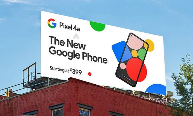 El Google Pixel 4a aparece en una valla publicitaria: confirmado su diseño y su precio, 399 dólares 37