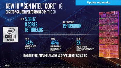 Especificaciones finales de los Intel Comet Lake-S para portátiles: hasta 8 núcleos y 16 hilos a 5,3 GHz 36