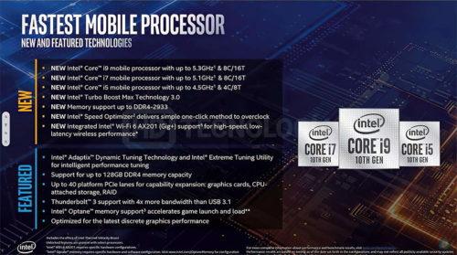 Especificaciones finales de los Intel Comet Lake-S para portátiles: hasta 8 núcleos y 16 hilos a 5,3 GHz 39