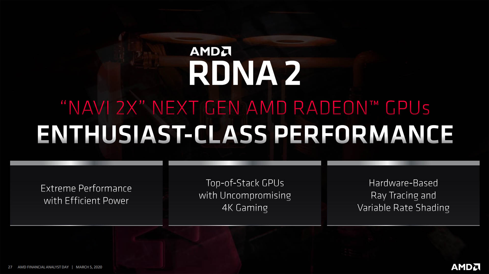 AMD presenta la serie Radeon RX Navi 2X basadas en RDNA 2 40