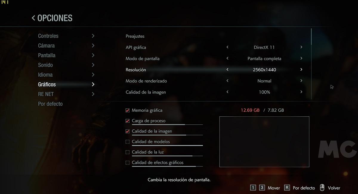 Rendimiento de Resident Evil 3 Remake: mejor con DirectX 11 que con DirectX 12 34