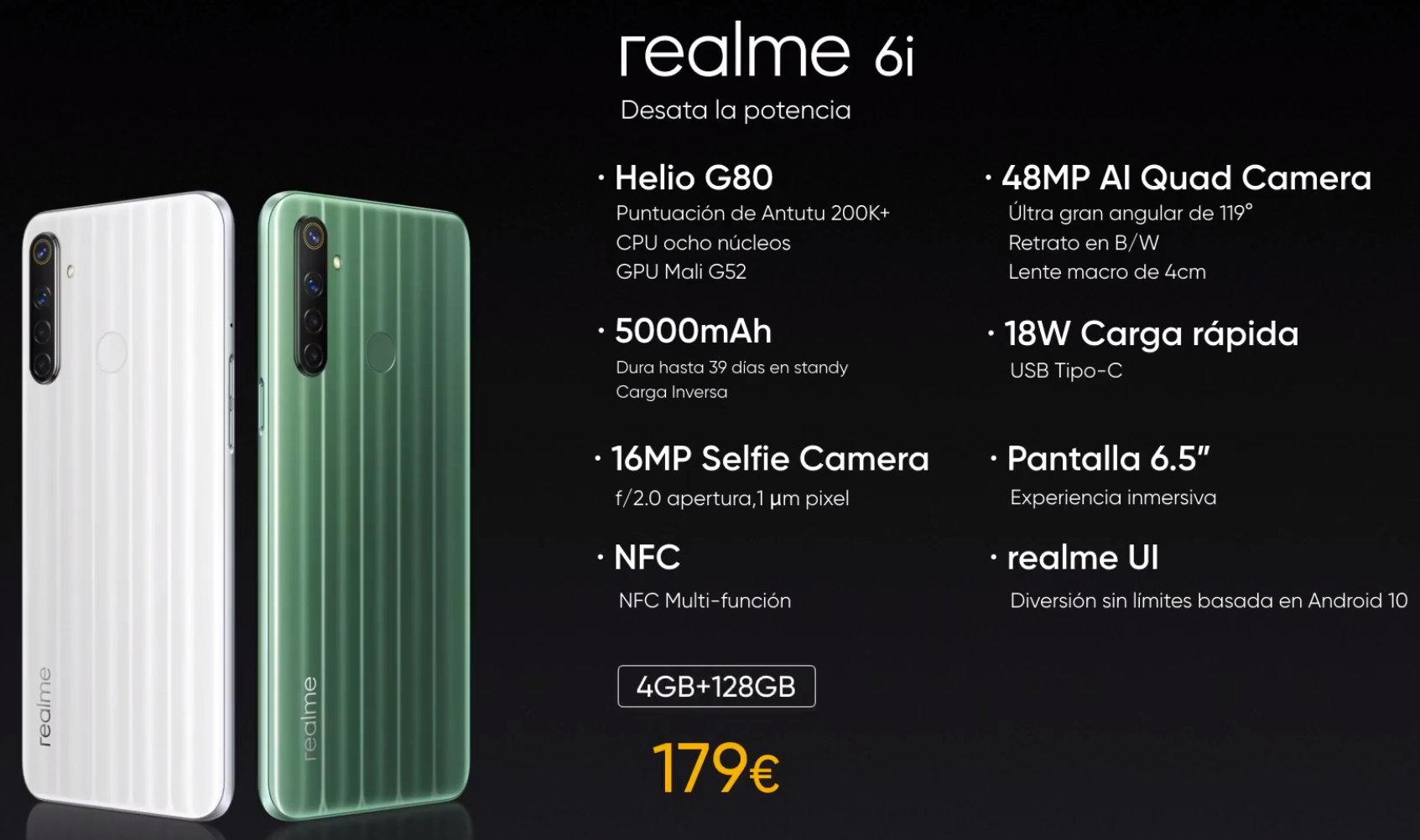 Realme presenta en España sus nuevos smartphones series 6 y el gama de entrada C3 32