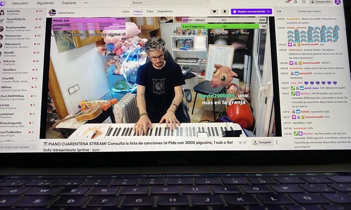 Stream musical de Víctor Mame en Twitch