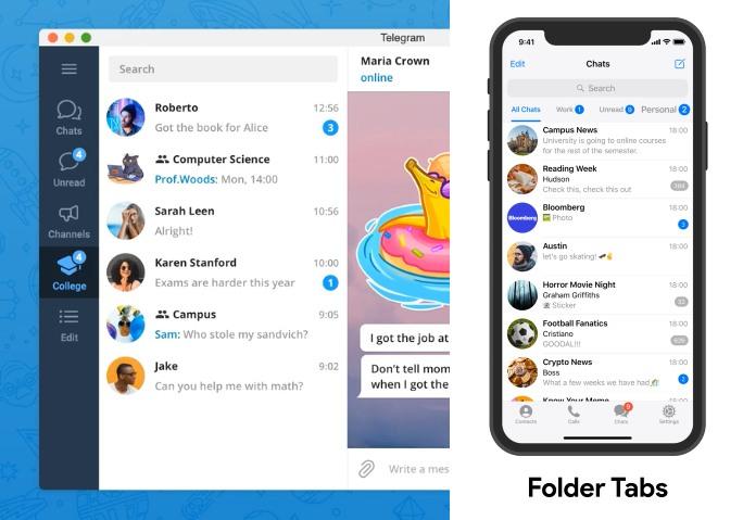 La nueva versión de Telegram llega con novedades para organizarte,  administrar y comunicarte mejor - MuyComputer