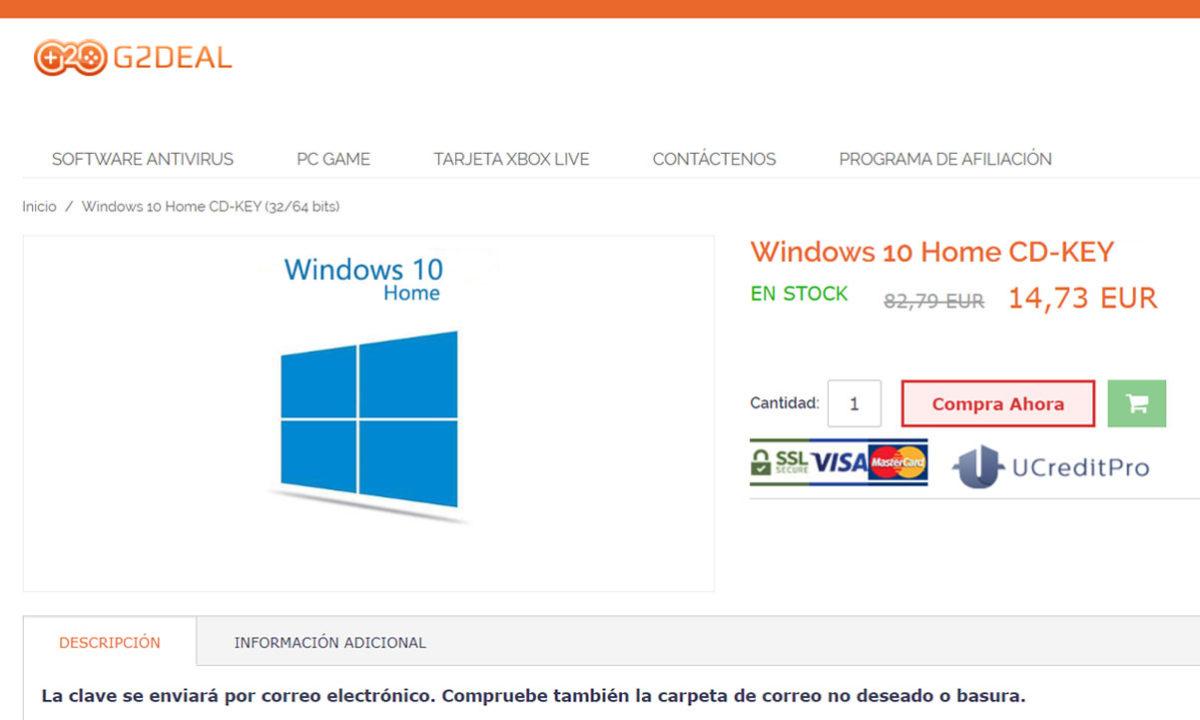 G2Deal Claves Windows 10