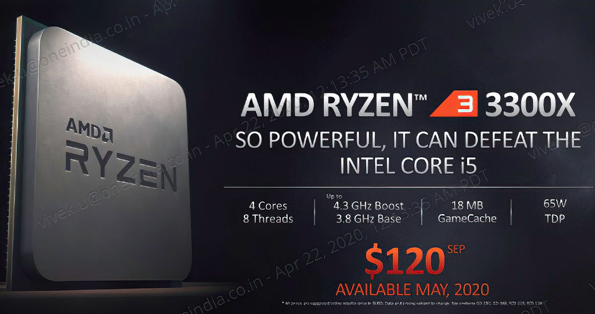 Los Ryzen 3 3100 y Ryzen 3 3300X suman cuatro núcleos y ocho hilos, pero tienen una diferencia muy importante 33