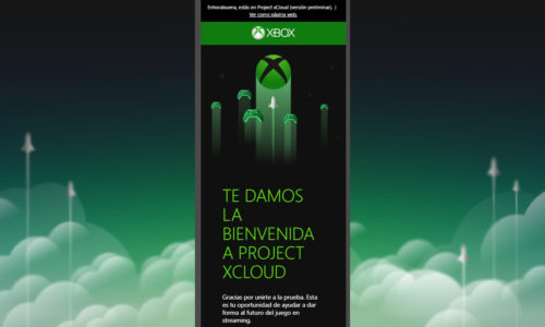 Registro Project xCloud Android Xbox