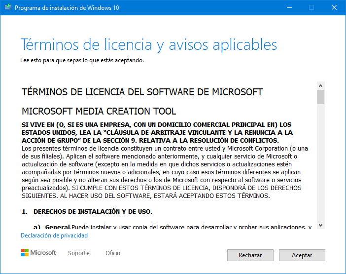 Ya puedes instalar Windows 10 2004 con la herramienta de creación de medios 32