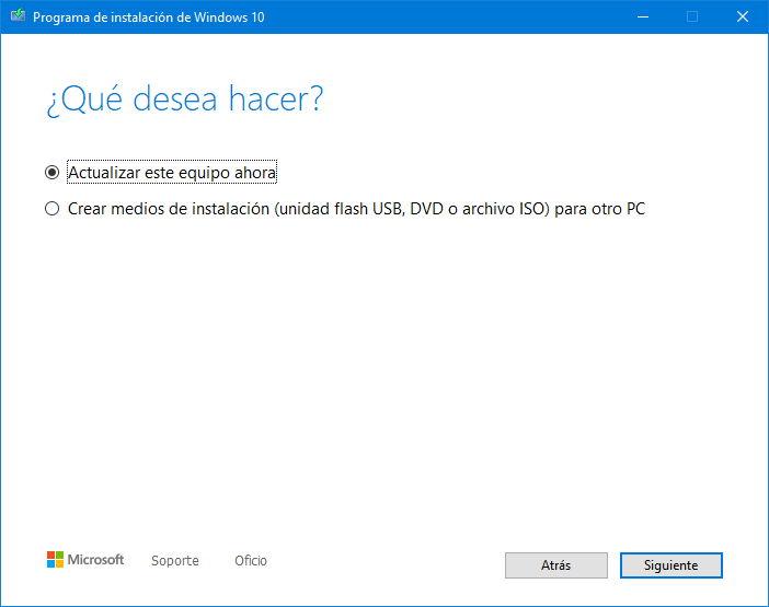 Ya puedes instalar Windows 10 2004 con la herramienta de creación de medios 34