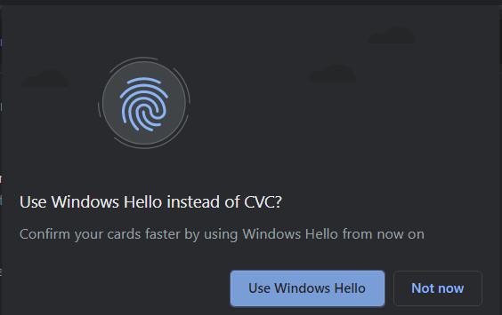 Windows Hello en Chrome