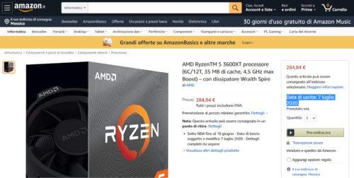 AMD Ryzen 5 3600XT Precio Fecha