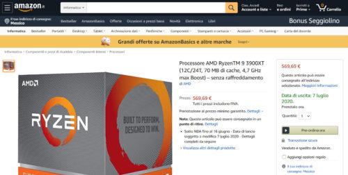 AMD Ryzen 9 3900XT Precio Fecha