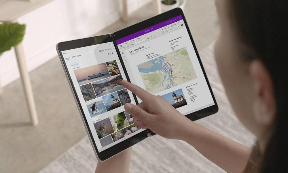 Microsoft patenta un Surface modular con pantalla plegable