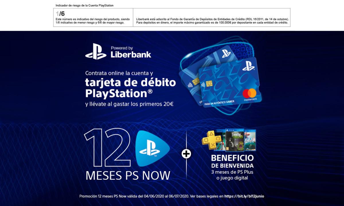 Liberbank Tarjeta PlayStation PS NOW PS Plus