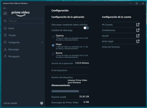 Ya está disponible la aplicación de Amazon Prime Video para Windows 10 37
