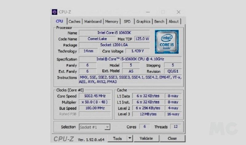 Intel Core i5 10600K, análisis: el rey en juegos 60