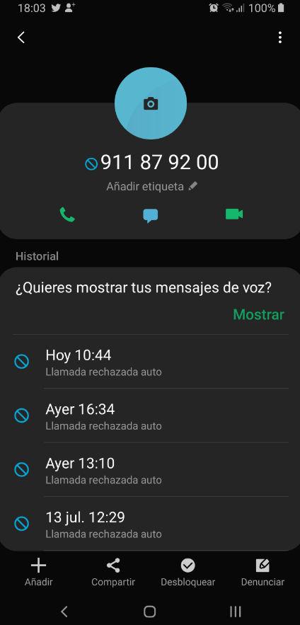 Cómo evitar llamadas telefónicas no deseadas en un smartphone Android 39