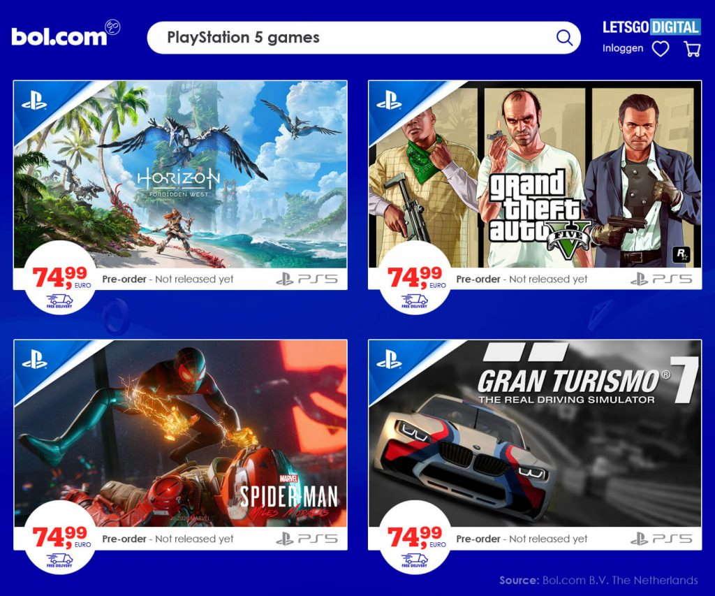 precio de los juegos de PS5
