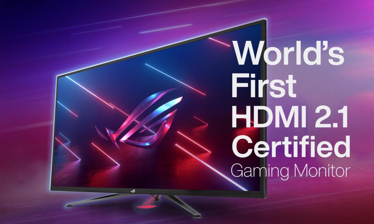 ASUS ROG monitores gaming hdmi 2.1