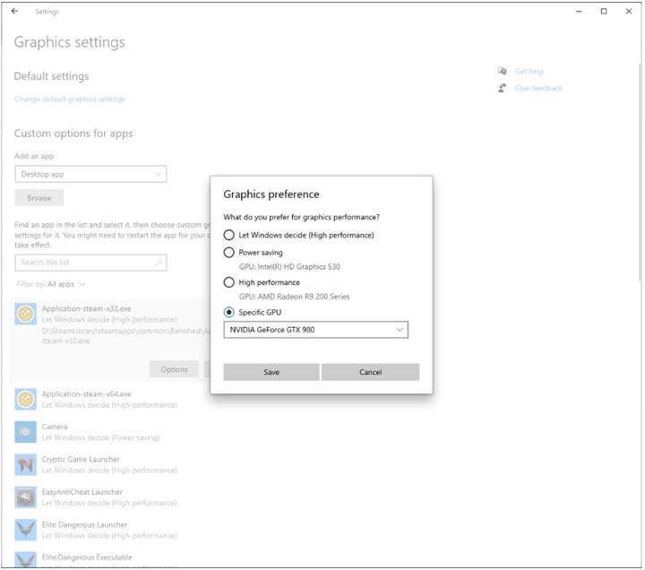 Microsoft mejora la selección y control de las GPU en Windows 10 30