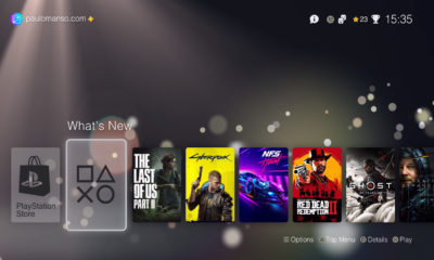 PS5 Interfaz Usuario Menú