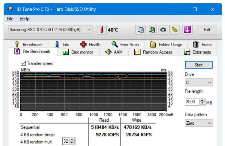 Samsung SSD 870 QVO, máxima capacidad y rendimiento SATA 46