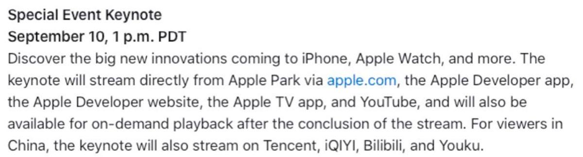 Nota de la Keynote 2020 de Apple