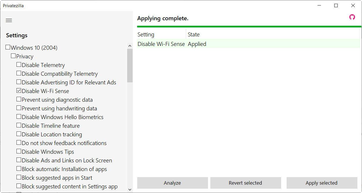 Cómo mejorar la privacidad de Windows 10 con Privatezilla 34