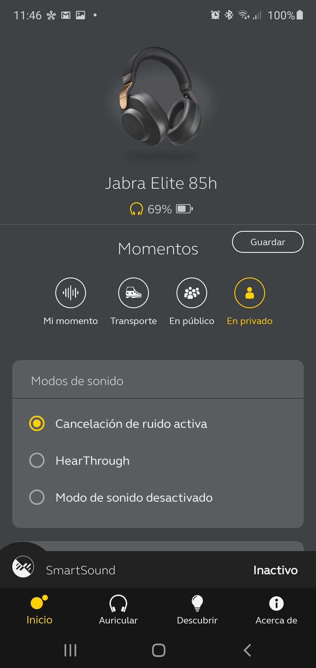 Jabra Elite 85h, aislamiento todoterreno 39