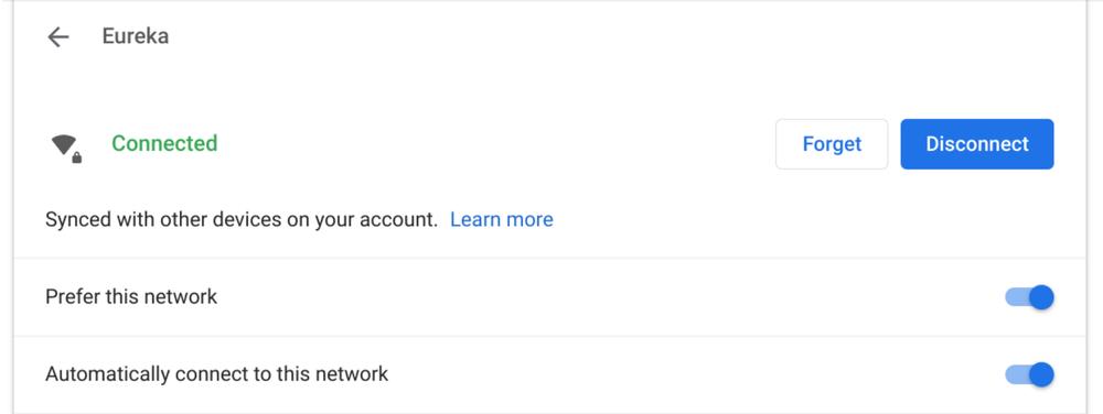 Chrome OS Wi-Fi Sync