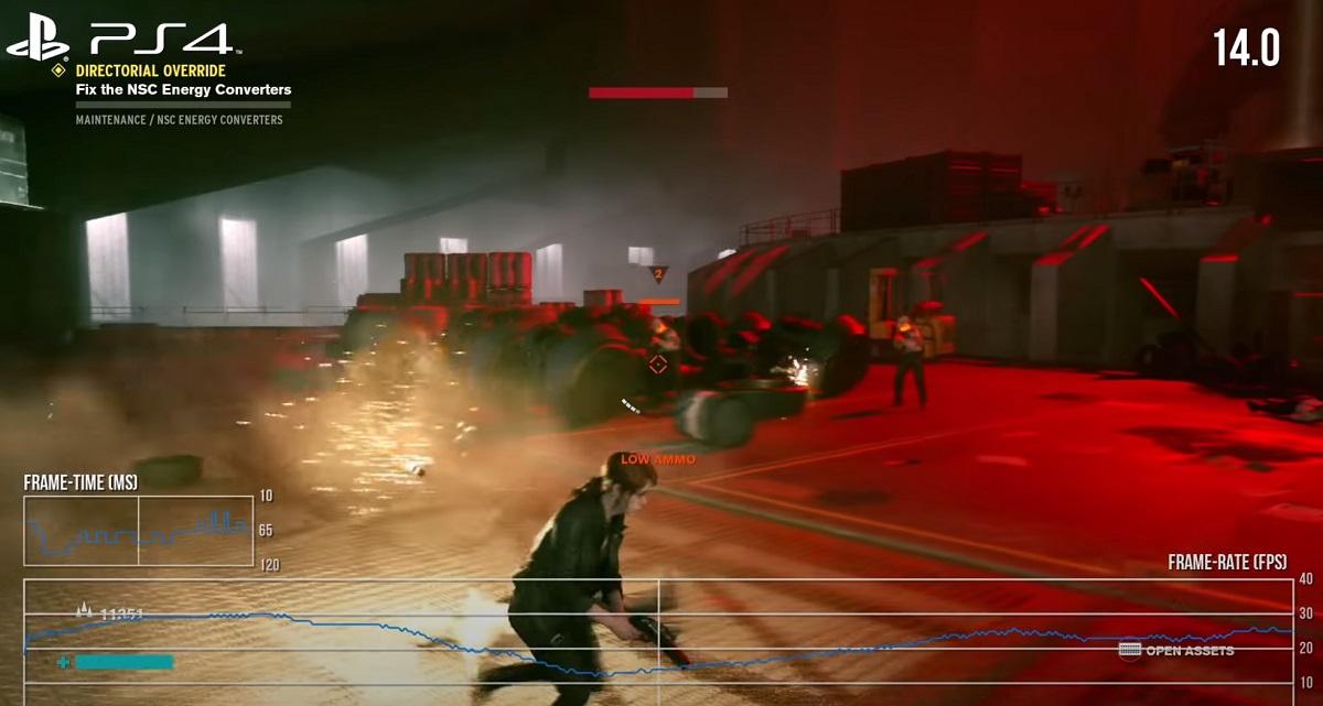 Control a 14 FPS en PS4. Imagen por cortesía de DigitalFoundry