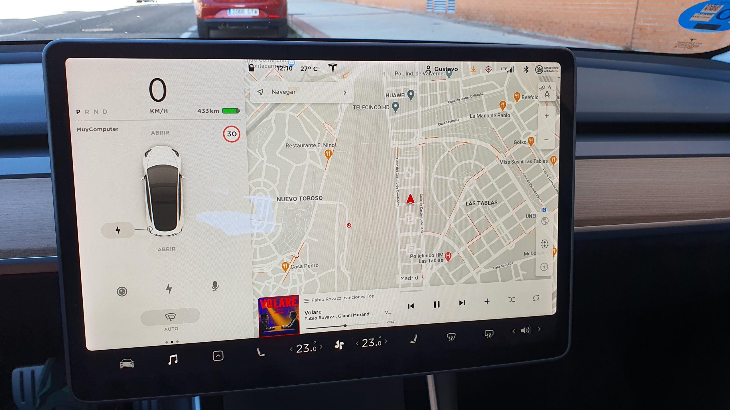 Tesla Model 3, alturas 40