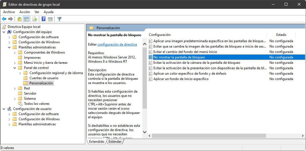 Cómo arrancar Windows 10 sin perder tiempo con 'Autologon' y deshabilitando la pantalla de bloqueo 31