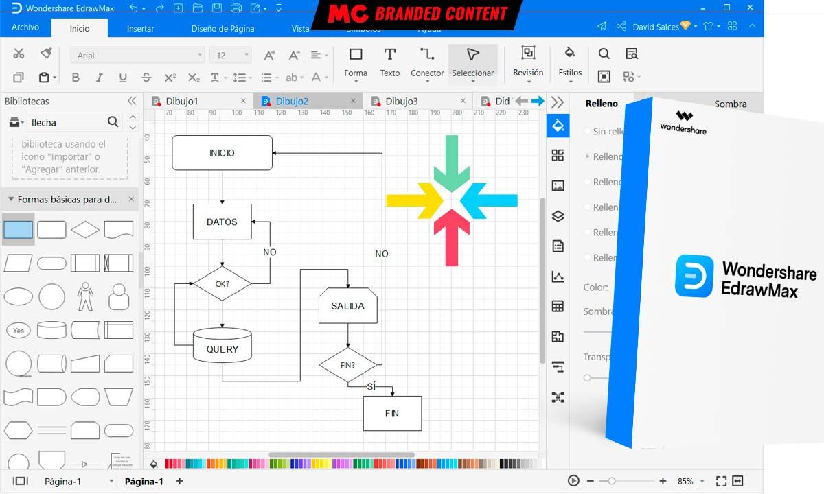 EdrawMax: diagramas sin límites