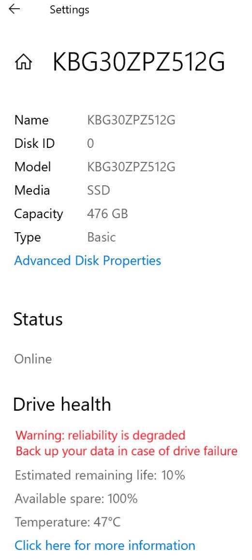 SSD NVMe en Windows 10