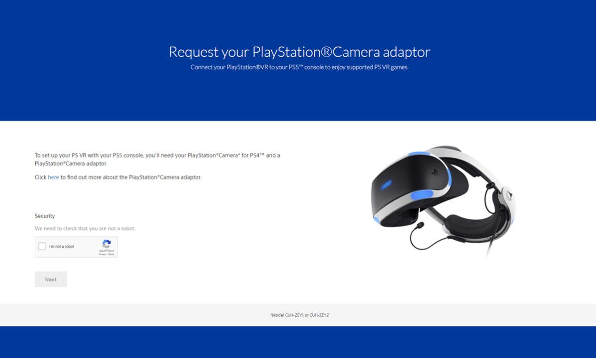 Sony PSVR adaptador gratis PS5