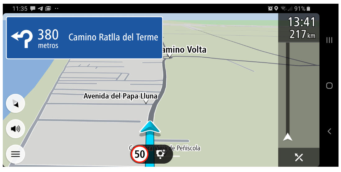 TomTom GO Navigation para Android, análisis 37