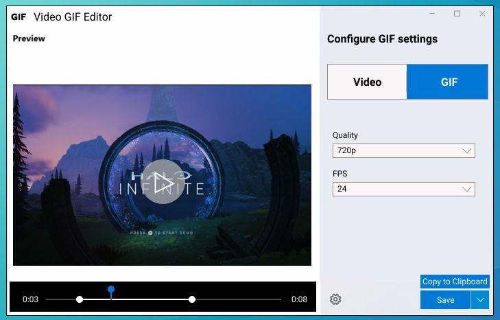 Video GIF Editor