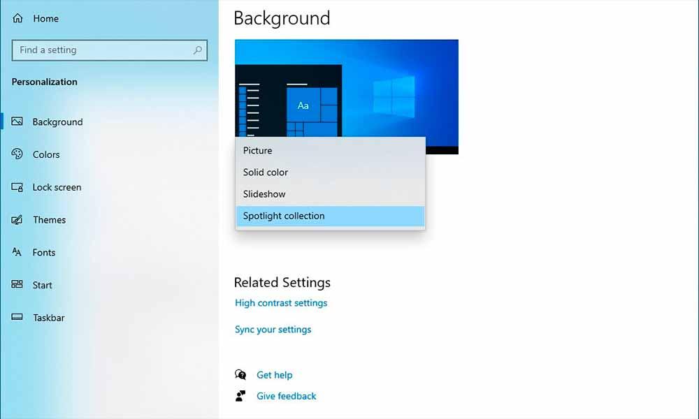 Windows Spotlight, de la pantalla de bloqueo al escritorio