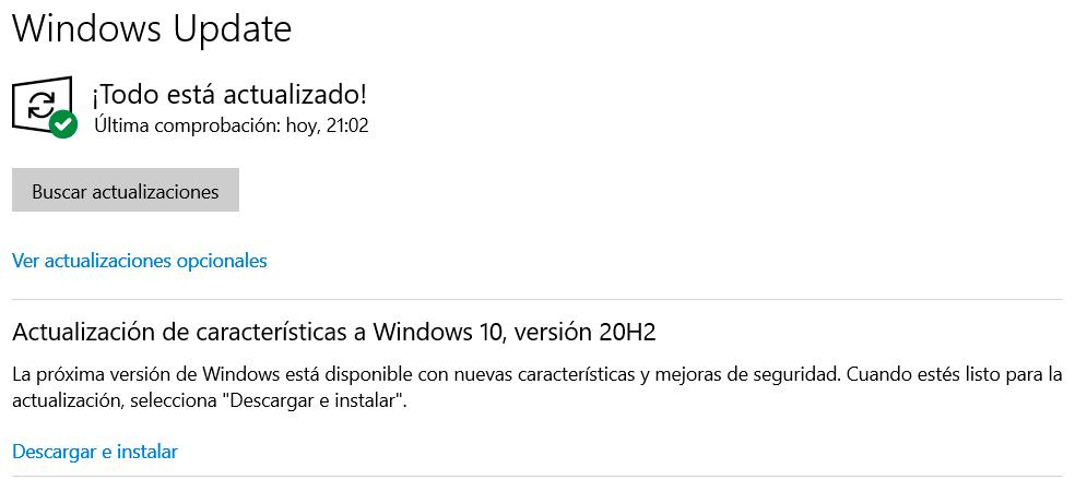 Cómo instalar Windows 10 20H2