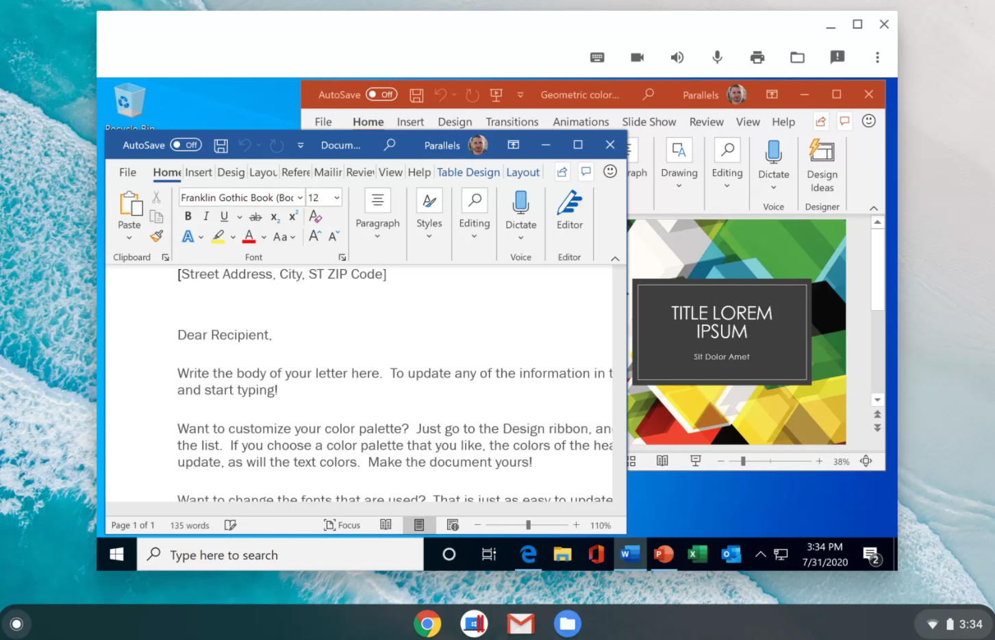 Windows en Chrome OS