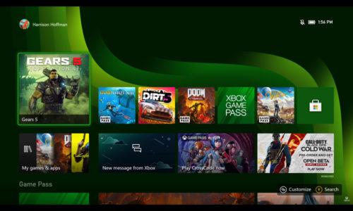 Xbox Series X interfaz menú